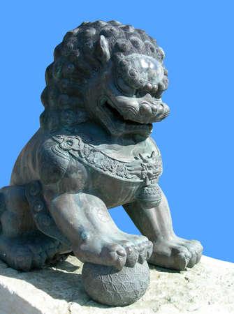 中国のライオン、孤立した画像