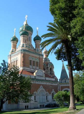 Russian Curch in Nice, French Riviera