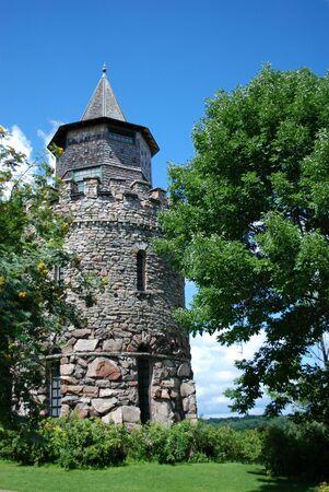 Tower in Italian garden on  Island Imagens