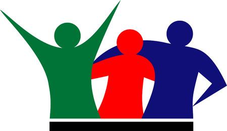 Illustration du 3 peuple de vecteurs ou amateurs de sport  Banque d'images - 5546889
