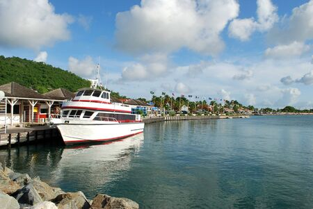 Passenger ship at Marigot harbor, Saint- Martin Island