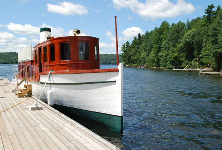 Ship on Lake of Bays  Stock Photo