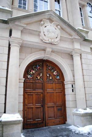 Decorative door, Oxford University, England