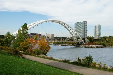 Humber River pedestrian bridge in Toronto, Canada