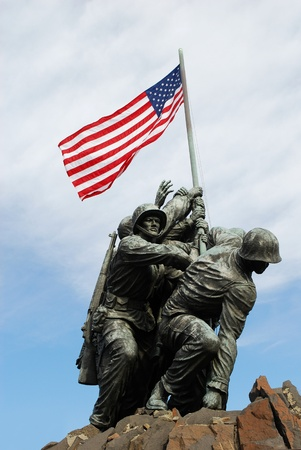 Iwo Jima memorial near Arlington National Cemetery in Rosslyn, Virginia, USA