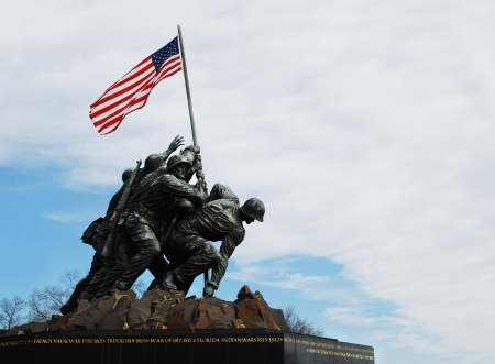 Iwo Jima Memorial, near Arlington National Cemetery in Rosslyn, Virginia, USA