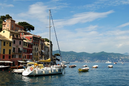 Portofino is a little port on the Italian Riviera, it is a popular tourist destination, Italy