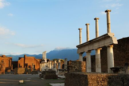 Sunset at Pompeii