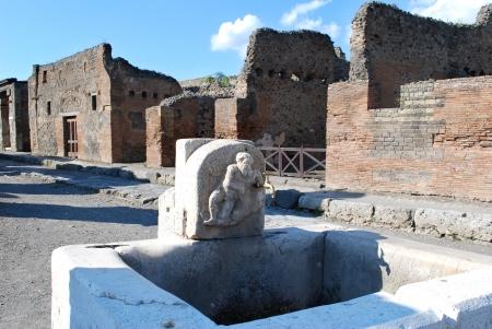 Pompeii Water Tap  Stock Photo