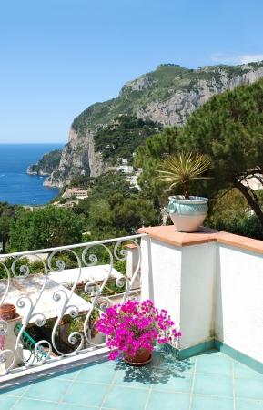 Capri, Balcony view, Italy