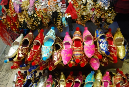 Turkish Slippers, at Grand Bazaar, Istanbul, Turkey
