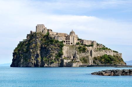 Castello Aragonese, view from Ischia Ponte, Italy
