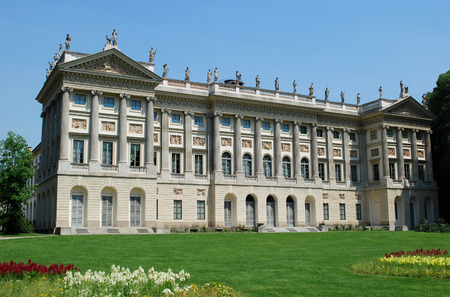 Royal Villa also called Villa Belgiojoso, was built was between 1790 and 1798  Now the Modern Art Gallery of Milan is located in the Royal Villa