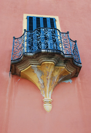 Photo of old decorative balcony, Italy