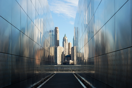 Jersey City, New Jersey, USA  December 27, 2015: Empty Sky, 911 Memorial, located in Liberty State Park. The Memorial honors the memory of the 749 people that lost their lives at the World Trade Center on September 11, 2001. The memorial, designed by Jess Stock Photo