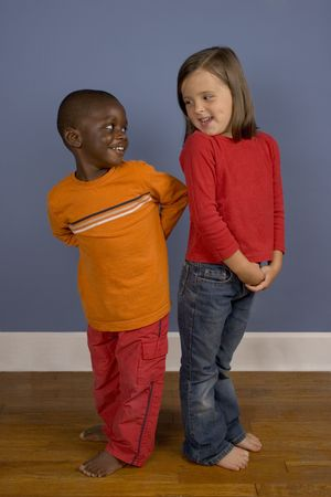 A series of images showing children of Diverse backgrounds. photo
