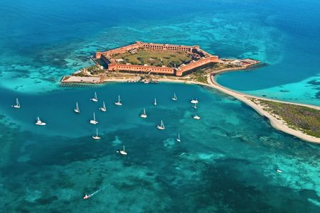 Dry Tortugas National Park in Florida. Fort Jefferson.