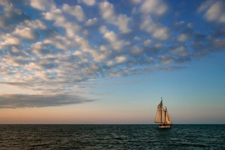 Tall sailing ship in Key West, Florida. photo