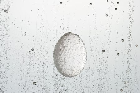 boiling: Fresh boiling egg on a white background. Stock Photo