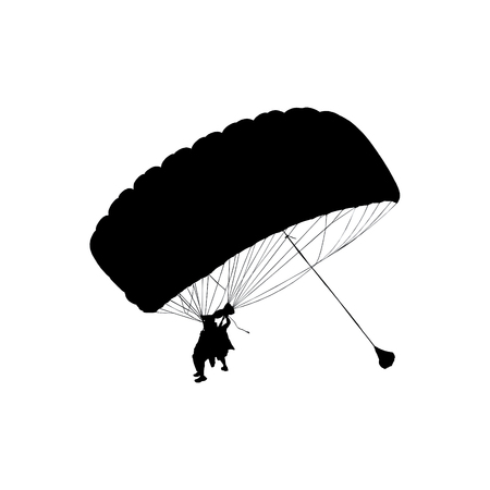 parachute jump: parachute jump in tandem with an instructor