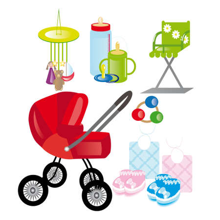 There are different things and toys for babies