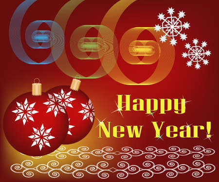 Christmas and new year background Stock Photo - 11660277