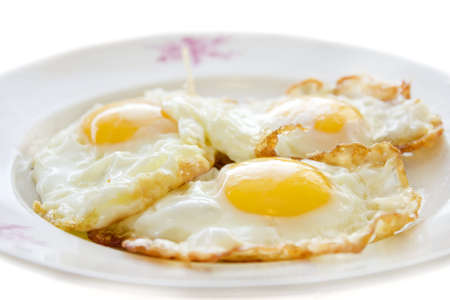 Three eggs on a plate
