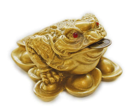 webbed legs: Chinese Feng Shui lucky money toad