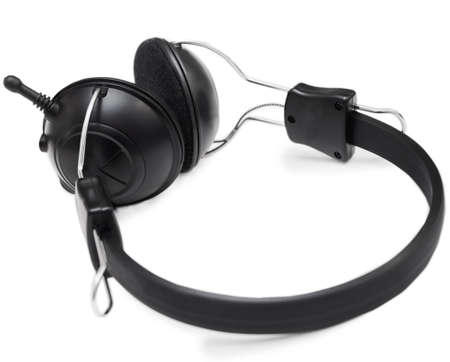 Headphones set with microphone Stock Photo