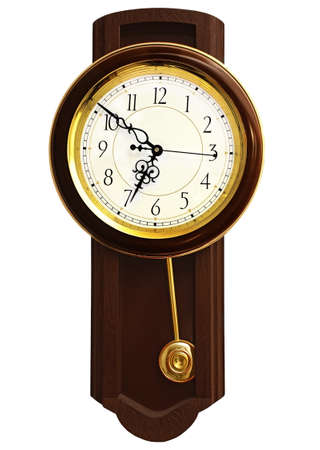 Wooden wall clock  Stock Photo