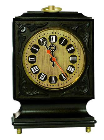 romeinse cijfers: Oude klok met Romeinse cijfers Stockfoto