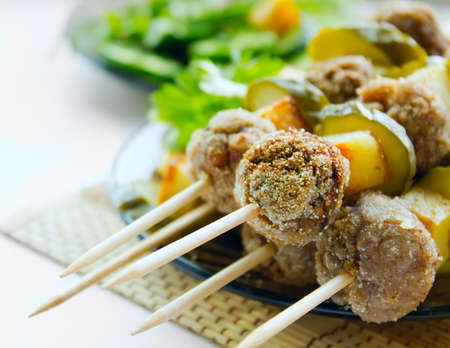 Meatballs kebab  Stock Photo