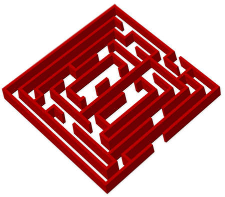 Red labyrinth photo