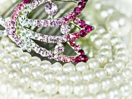 Jewellery with pearls Stock Photo