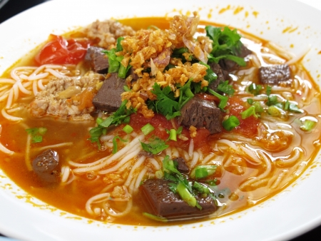 Thai food or Thai Cuisine   noodles with fish curry                                       photo