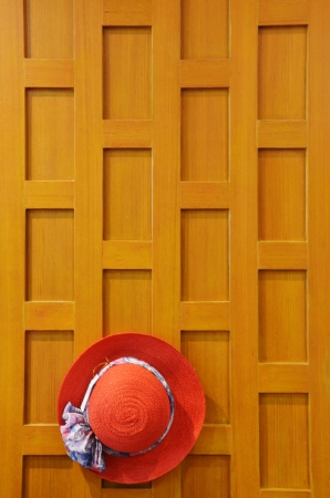 Classic Hat on Wall Wood photo