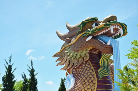 Golden Dragon at Chinese Village Suphaburi Thailand photo