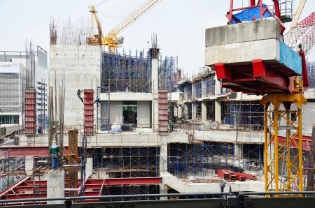 edificio: Obra de construcci�n en Tailandia