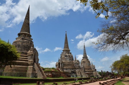 Wat Phra Sri Sanphet at Ayutthaya Historical Park Thailand photo