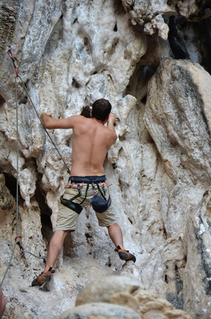Climbing at Krabi Thailand photo