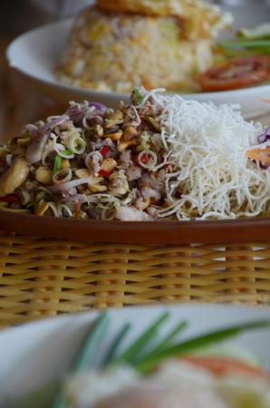 tripple: Tripple Crisp   Spicy Seafood Salad  Stock Photo