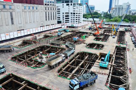 Building construction Site at Thailand photo