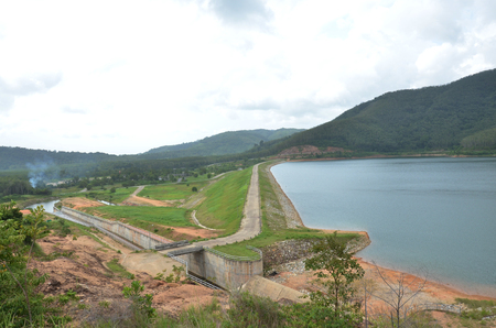 Bangneow Dam reservoir at Phuket Thailand photo