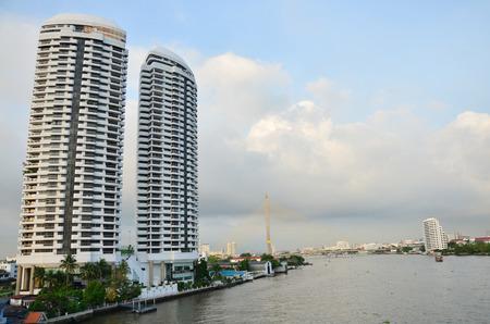 phraya: Chao Phraya River at Bangkok Thailand Stock Photo