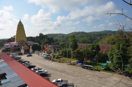 wiwekaram:  Wat Wang Wiwekaram Sangkhlaburi Kanchanaburi Thailand Stock Photo