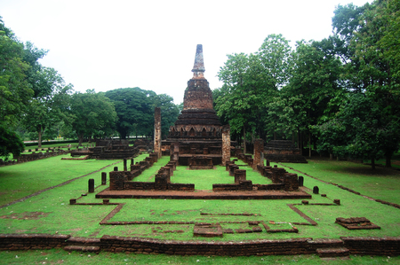 Kamphaeng Phet Historical Park Aranyik area,Buddha of thailand photo