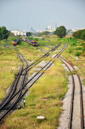 Train on Railway at Thailand photo