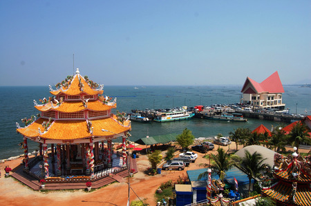 Boat Station of Ko Loi at Sriracha Chonburi Thailand photo