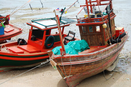 Boat in Kho Si Chang Island at Chonburi Thailand photo