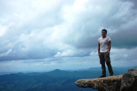 pa: Portrait at PA HIN NGAM National Park Stock Photo